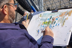 Watercolour (McTumshie) Tags: 20191018 brexit eu europe london peoplesvote democracy demonstration march peoplesmarch politics londonist artist watercolour painting
