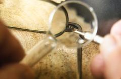 Essential spectacle repairs (masonandy2015) Tags: glasses arm closeup fixing hinge lens lenscloth lenses magnifier screw screwdriver specs table wooden spectacles eye wear maintenance repair mending essential