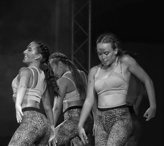 Performance (STEHOUWER AND RECIO) Tags: performance dance girl girls beautiful pose dancing powerful schmink portrait stage ladies lady smile greece kos animation bnw bw people blackandwhite