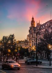 Praça da Liberdade (Ro Cafe) Tags: oporto portugal city urban street sunset architecture summer travel nikkor2470mmf28 sonya7iii