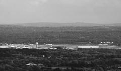 Gatwick B&W (photogpictures2) Tags: contrast bw monochrome airport gatwick telephoto lens blackandwhite planes landscape sky trees surreyhills surrey instagram photooftheday