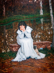 'Melancholy' by James Tissot (Greatest Paka Photography) Tags: jamestissot art artist museum legionofhonor dog melancholy moody emotion french forlorn woman pup