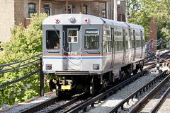 6000 Series Heritage Fllet Cars at Howard St. (Laurence's Pictures) Tags: train chicago transit authority cta urban mass skokie shop illinois rail railroad road maintenance repair car trolley transportation el elevated l city tour red line 6000 heritage fleet