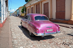 Chevy 51 (karzvin19) Tags: 1951chevroletstylelinedeluxe4doorsedan classiccars chevy chevrolet cuba trinidadcuba cobblestonestreets street streets streetlife
