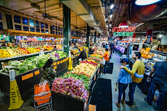 Reading Terminal Market - Philadelphia (Darren LoPrinzi) Tags: 5d canon canon5d city miii philadelphia philly urban readingterminalmarket market retail produce food vegetables fruit shopping people crowd crowded signs sign signage neon neonsigns