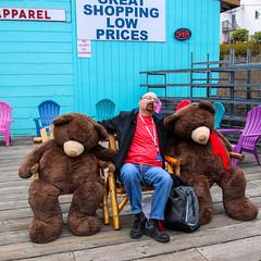 Acting Silly (oxfordblues84) Tags: bear man me alaska chair eric chairs bears ketchikan princesscruises ketchikanalaska goatee glasses bald facialhair brownbears royalprincessnappingcruise