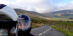 Heading up to Mam Tor.. (Mike-Lee) Tags: peakdistrict 81miles cagivanavigator1000 0ct2019 mike jill navi twocoffeestops selfies edale kinder