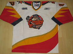 Erie OTTERS Game Worn Jersey (kirusgamewornjerseys) Tags: ohl game worn jersey junior ice hockey usa erie otters derrick bagshaw