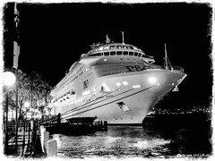 Pacific Jewel in Harbor (Bob Shrader) Tags: olympuspenf olympusm12100mmf40 21mm f4 13sec 800iso raw microfourthirds mft m43 mirrorless entertainment travel australiavacation oceania australia newsouthwales sydney nature water harbor sydneyharbor night sky lights plant trees transportation sidewalk architecture structure fence railing reflection penf zoomlens olympusmzuikodigitaled12100mmf40ispro mzuiko12100mmf40ispro olympusmzd12100mmf40ispro wideshot seascape exterior outdoors photoborder photoedge photoframe postprocessing preset photoline affinityphoto tonemapping skylum tonalityck filmemulation ilfordsfx200