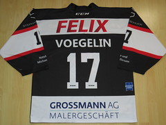 #17 Cyrill VOEGELIN Game Worn Jersey (kirusgamewornjerseys) Tags: ehc basel sharks game worn jersey ice hockey joel wüthrich nicolai gusset chris sarault vögelin