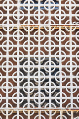 Window shade (aergia) Tags: architecture california circles geometry lines pattern sanfrancisco white window