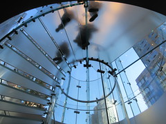 2019 West Side MAC Store Glass Floor Stairs NYC 5818 (Brechtbug) Tags: 2019 the other mac store glass floor stairs apple cube entrance computer stores near lincoln plaza hotel 66th street broadway new york city 10192019 west side midtown macs macintosh computers entrepreneur innovator cofounder chairman inc studios steve jobs six below feet view ice frosted plates underneath worms eye views october 19th