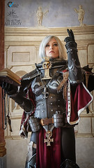 Piece of Cake Cosplay as Sister of Battle from Warhammer 40K, by Ailiroy and SpirosK photo. (SpirosK photography) Tags: cosplay costumeplay palazzogonzaga portrait spiroskphotography voltaincosplay voltaincosplay2019 vic pieceofcake pieceofcakecosplay postapocalyptic 40k warhammer40k warhammer tabletoprpg rpg game videogame gaming sisterofbattle adeptasororitas balcony clouds preaching shooting
