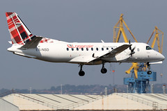 ES-NSD (GH@BHD) Tags: esnsd saab saab340 saab340b nyxair loganair belfastcityairport bhd egac turboprop propliner aircraft aviation log lm