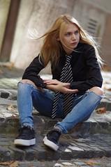 Eve ... FP7378M (attila.stefan) Tags: evelin eve wind girl győr gyor stefán stefan attila aspherical fall autumn pentax portrait portré k50 samyang 2019 85mm beauty