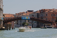 Venice, Italy (wildhareuk) Tags: canon canoneos500d grandcanal italy tamron18270mm venice venice2019 water academia boat bridge building piling tamron watertaxi img9911dxo