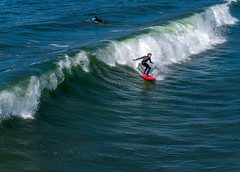 Wave Caught (larwbuck) Tags: autumn california fall ocean person seascape water waves