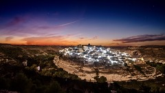 Jorquera (Spain) (franlaserna) Tags: sunset sunrise lights stars clouds landscape nikon nightphotography night spain albacete jorquera