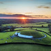 Sunset over Newgrange