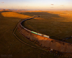 2TE116UM-001 UBTZ, Bayan - Khairkhan (Mongolia) (Martin Válek) Tags: rail railway railroad train locomotive zug eisenbahn vlak železnice mongolsko mongolei transmongolianrailway ulaanbaatarrailway