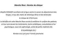 01 Remise chèque  Marche Rose