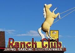 ID, Boise-U.S. 20 Ranch Club Neon Sign