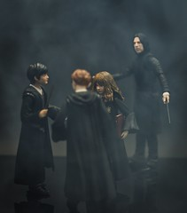 A Discovery (imprimis5) Tags: actionfigures toyphotography harry potter shfiguarts 112 scale ron weasley hermione granger fog severus snape wizarding world
