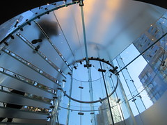2019 West Side MAC Store Glass Floor Stairs NYC 5804 (Brechtbug) Tags: 2019 the other mac store glass floor stairs apple cube entrance computer stores near lincoln plaza hotel 66th street broadway new york city 10192019 west side midtown macs macintosh computers entrepreneur innovator cofounder chairman inc studios steve jobs six below feet view ice frosted plates underneath worms eye views october 19th