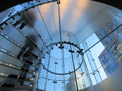 2019 West Side MAC Store Glass Floor Stairs NYC 5799 (Brechtbug) Tags: 2019 the other mac store glass floor stairs apple cube entrance computer stores near lincoln plaza hotel 66th street broadway new york city 10192019 west side midtown macs macintosh computers entrepreneur innovator cofounder chairman inc studios steve jobs six below feet view ice frosted plates underneath worms eye views october 19th