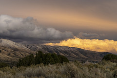 Glowing cloud at sunset after an autumn storm. (spotwolf5) Tags: southeastidaho sunset weather pocatello