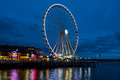 The Seattle Great Wheel (Daren Grilley) Tags: 57 pier seahawks 12thman seattle washington northwest pacific waterfront evening puget sound nikon z6