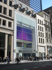 2019 Microsoft Store on 5th Avenue 6124 (Brechtbug) Tags: 2019 microsoft store 5th avenue 53rd street nyc windows 8 eight surface tablet computers new york city 10192019 bill gates window midtown manhattan mac macintosh apple rival competition pc personal computer facade front exterior display