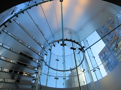 IMG_5815 (Brechtbug) Tags: 2019 the other mac store glass floor stairs apple cube entrance computer stores near lincoln plaza hotel 66th street broadway new york city 10192019 west side midtown macs macintosh computers entrepreneur innovator cofounder chairman inc studios steve jobs six below feet view ice frosted plates underneath worms eye views october 19th