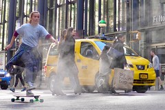 Broadway Bomb 2019 (pburka) Tags: skateboard skating skater fulton nyc manhattan fidi broadwaybomb broadwaybomb19 broadwaybomb2019 street people wheels taxi broadwaybombnyc steam action usedwithattribution