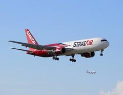 Strat Air                                         Boeing 767                                         N351CM (Flame1958) Tags: stratair stratairb767 stratb767 boeing767 boeing b767 767 b767f 767f mia kmia miamiairport 140219 0219 2019 flap2019 8650