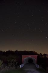 Roseman Bridge at night (Fritillaria1) Tags: iowa madison covered bridge roseman stars night