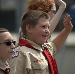 Boy Scouts (Scott 97006) Tags: boys male parade scouts uniforms waving
