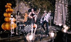 Skeleton rock band for Halloween 2019 (Luca Arturo Ferrarin) Tags: secondlife halloween couple love lovely skeleton band rock thriller elysion