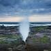Blowhole || Wombarra {Explore 138, 2019/10/20} (David Marriott - Sydney) Tags: wollongong newsouthwales australia wombarra nsw rock shelf rockshelf blowhole spout wave dawn sunrise
