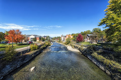 Port Hope (superdavebrem77) Tags: porthope ontario oilpaintfilter wideangle autumn water river