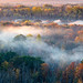 Manistee River misty morn (The Charliecam) Tags: frost mist michiganfavorites overlook high rollways manistee national forest autumn fallcolors leaves outdoor eos r 70200f4l dawn morning trees