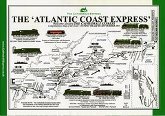 00f The Atlantic Coast Express. Route map. Cathedrals Express img267 (Clementinos2009) Tags: 2011atlanticcoastexpresslondontonewquay4th6thseptember cathedralsexpress steamdreams atlanticcoastexpresscathedralsexpress