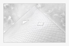 ^ thegallery ^ (christikren) Tags: austria architecture architektur art ausstellung building christikren design exhibition europe facade roof kunstmuseum lines modern monochrome highkey panasonic photography perspective pyramide landesgalerie roofshingles krems nö structures construction white grey museum form abstract triangel martemarte