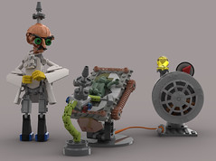 Scientific Torture (Folisk) Tags: lego moc system technic studio scientist yoda cbt