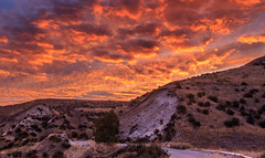 Sunrise On Old Freezeout Hill (http://fineartamerica.com/profiles/robert-bales.ht) Tags: forupload gemcounty haybales idaho landscape people photo places scenic states sunrisesunset mountain emmett sweet storm squawbutte farm rollinghills treasurevalley sunrise clouds spring emmettvalley emmettphotography trees yellow thebutte canonshooter beautiful sensational awesome magnificent peaceful surreal sublime magical spiritual inspiring inspirational wow robertbales town butte gem valley freezeeout road