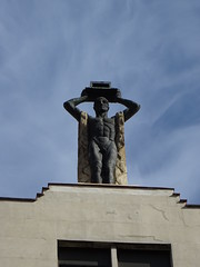 Sculpture on a building in Madrid