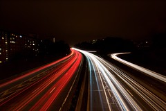 52/52 - Highway (m4mboo) Tags: 52 52project car drive freeway highway light lightpainting longexposure motorway night painting red speed white