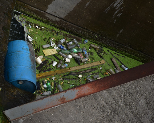 Garbage in St. Anthony Falls Upper Lock