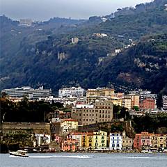 Sorrento, Campania, Italia (pom'.) Tags: panasonicdmctz101 boat fromamovingvehicle harbor sorrento campania naples napoli italia italy europeanunion