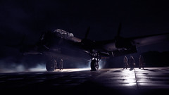 Bombers Moon (davepickettphotographer) Tags: justjane uk lancaster bomber aircraft reenactors remembrance reenactment ww2 secondworldwar east eastern england lincolnshire heritage centre moonlight night lancasterbomber aviation avro timeline event events